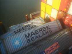 Container an Bord der MSC ZOE in Bremerhaven - 3.1.2019